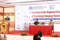 Speaking on D&O and Profesional Liability insurance at 7th Southern India Regional Conference of Practicing Company Secretaries on 3/11/ 2012